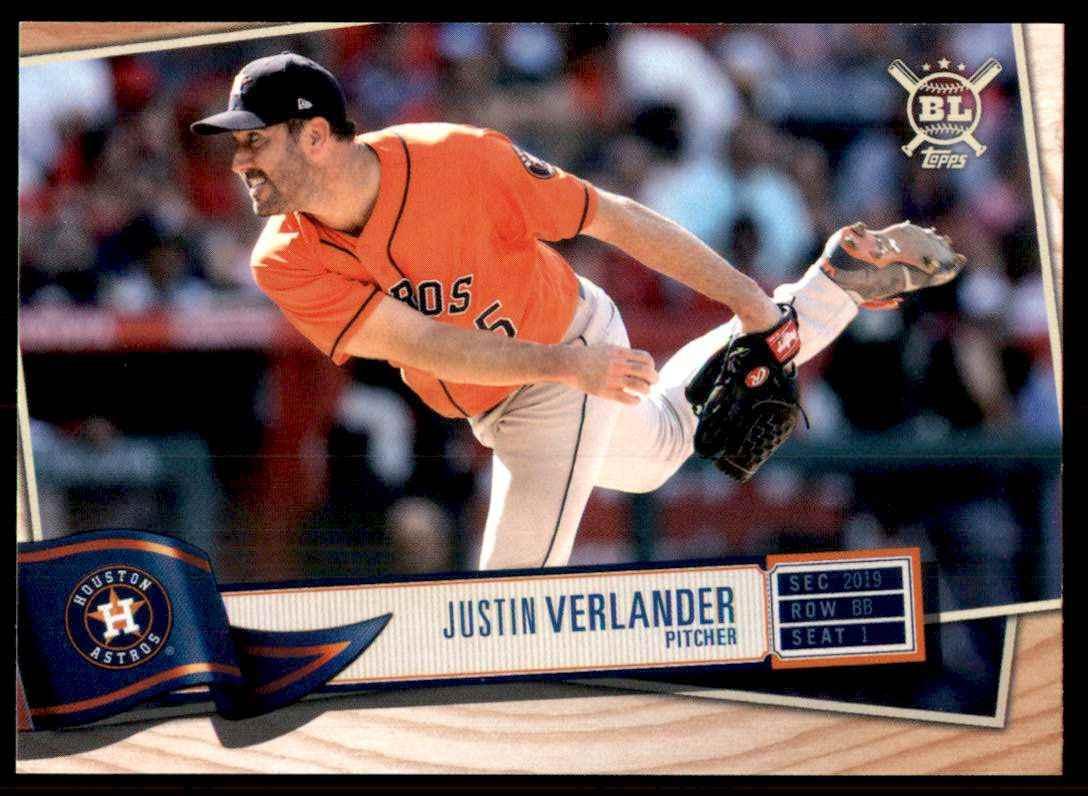 2019 Topps Big League Justin Verlander #159 card front image