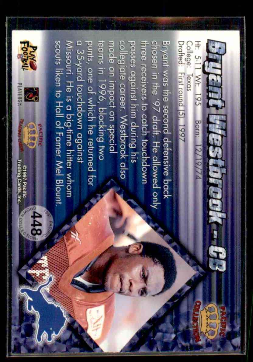 1997 Pacific Bryant Westbrook #448 card back image