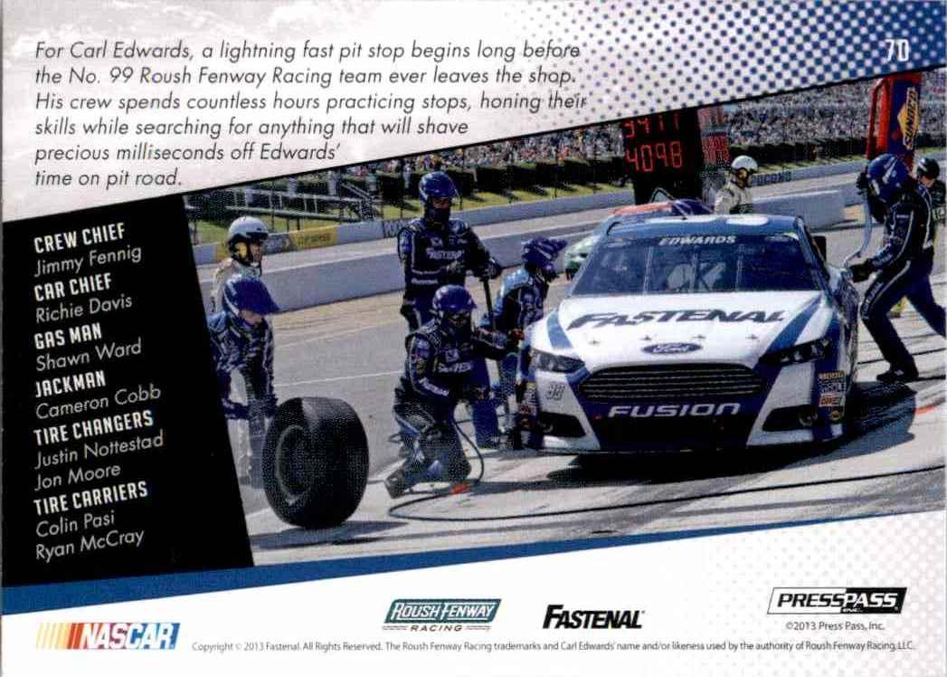 2014 Press Pass Carl Edwards' Car Gc #70 card back image