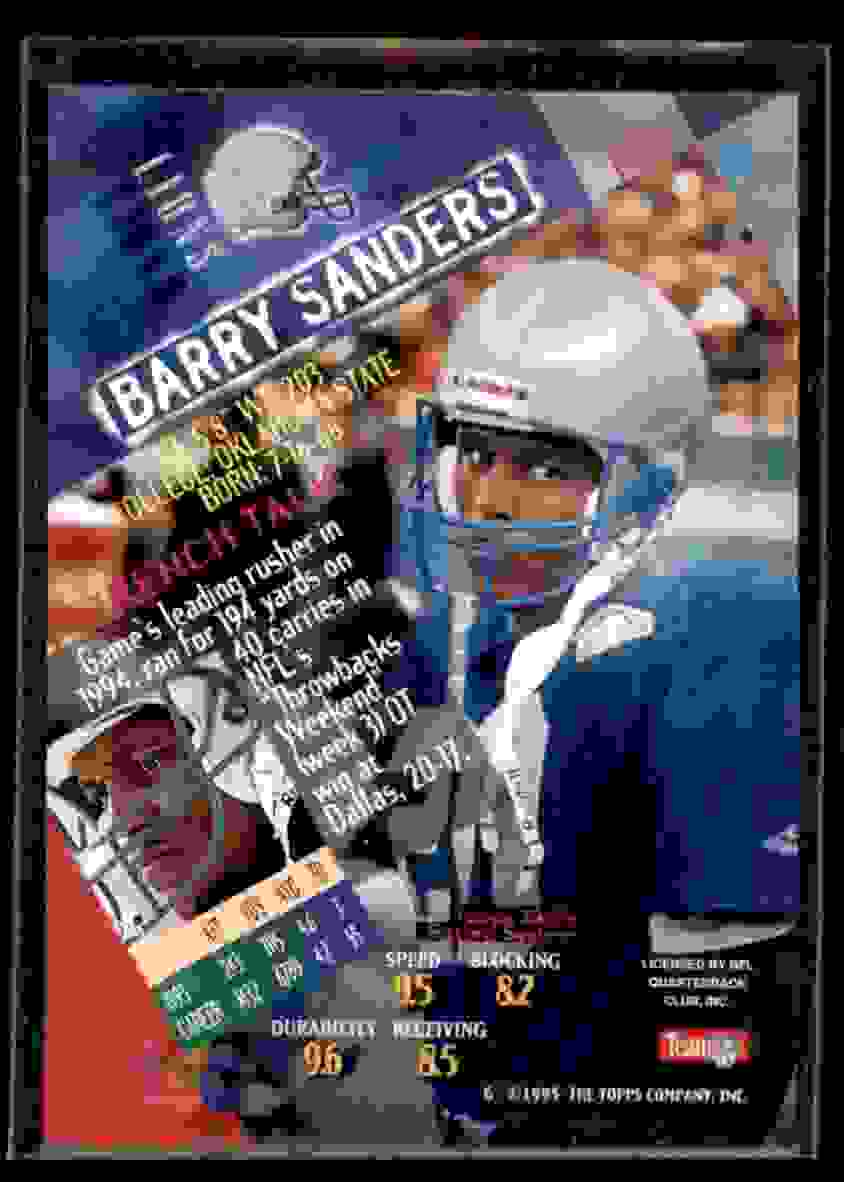 1994 Stadium Club Barry Sanders #580 card back image