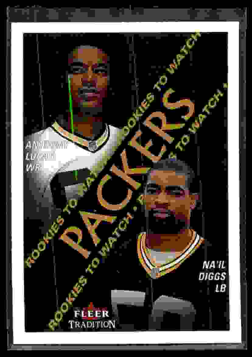 2000 Fleer Tradition Anthony Lucas Na'il Diggs #346 card front image