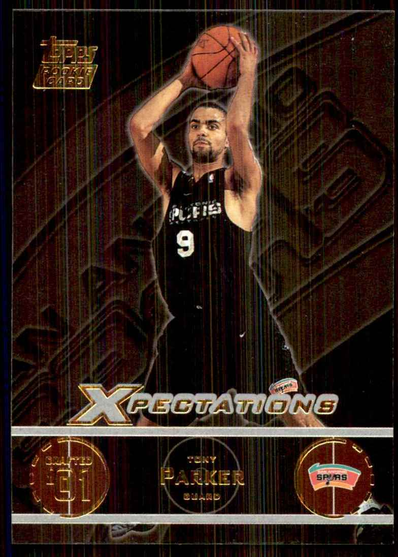 2001-02 Topps Xpectations Tony Parker RC #127 card front image