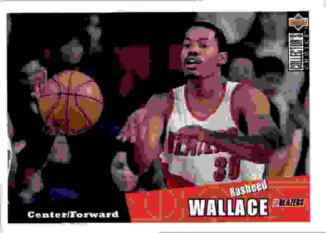 1996-97 Collector's Choice Rasheed Wallace #318 card front image