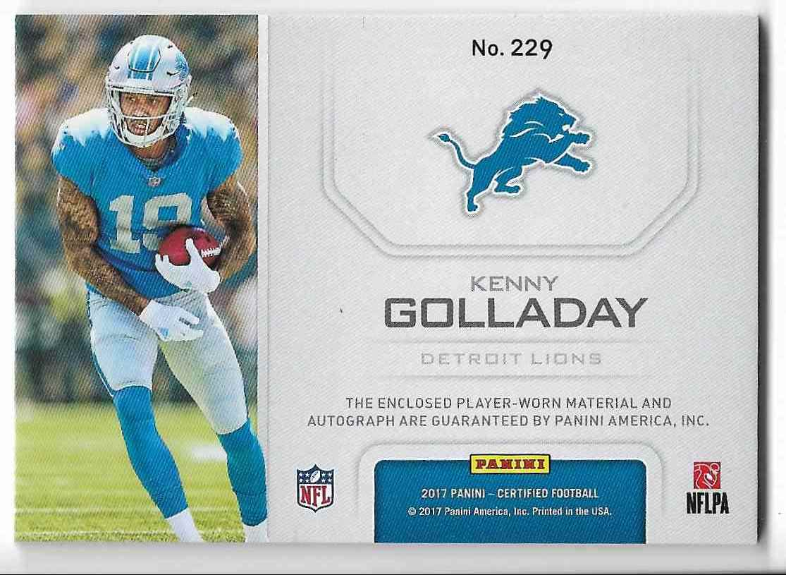 2017 Panini Certified Kenny Golladay #229 card back image