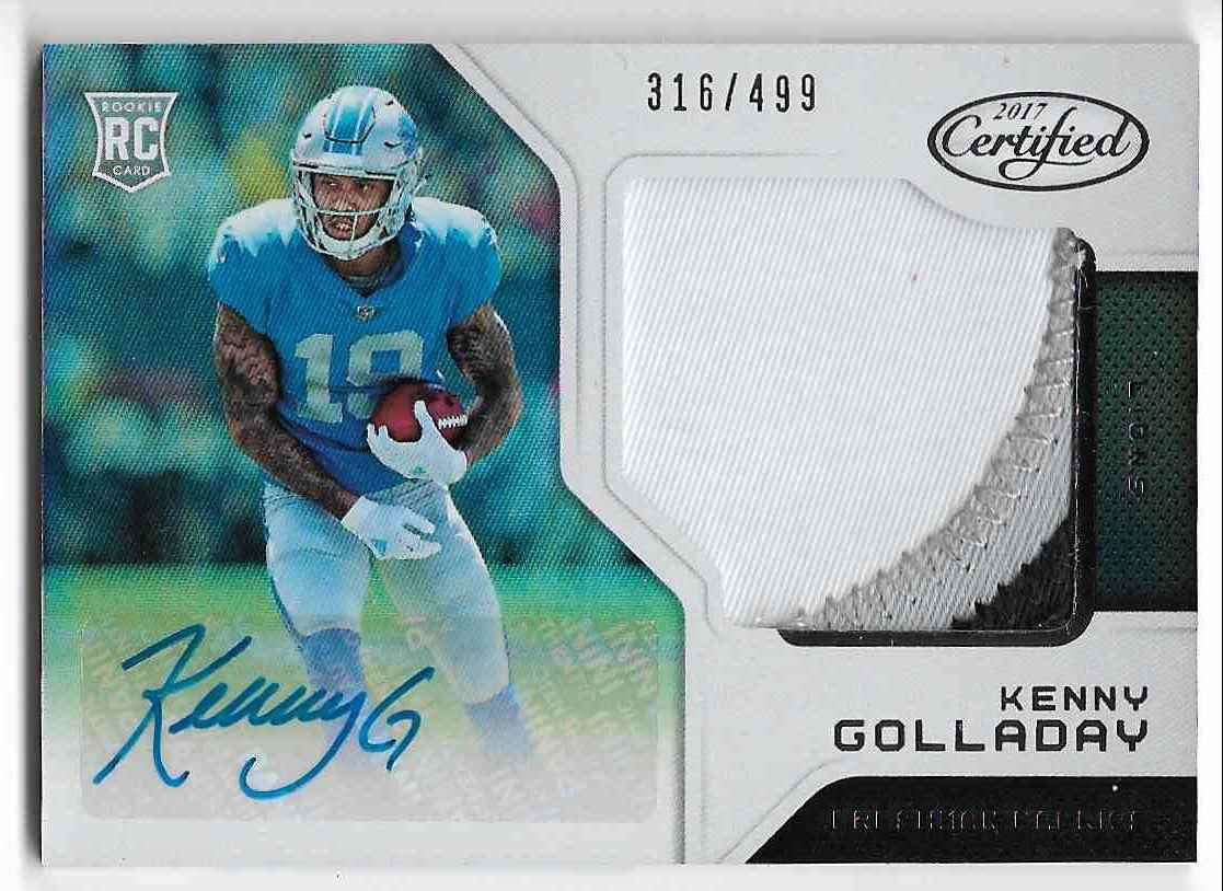 2017 Panini Certified Kenny Golladay #229 card front image