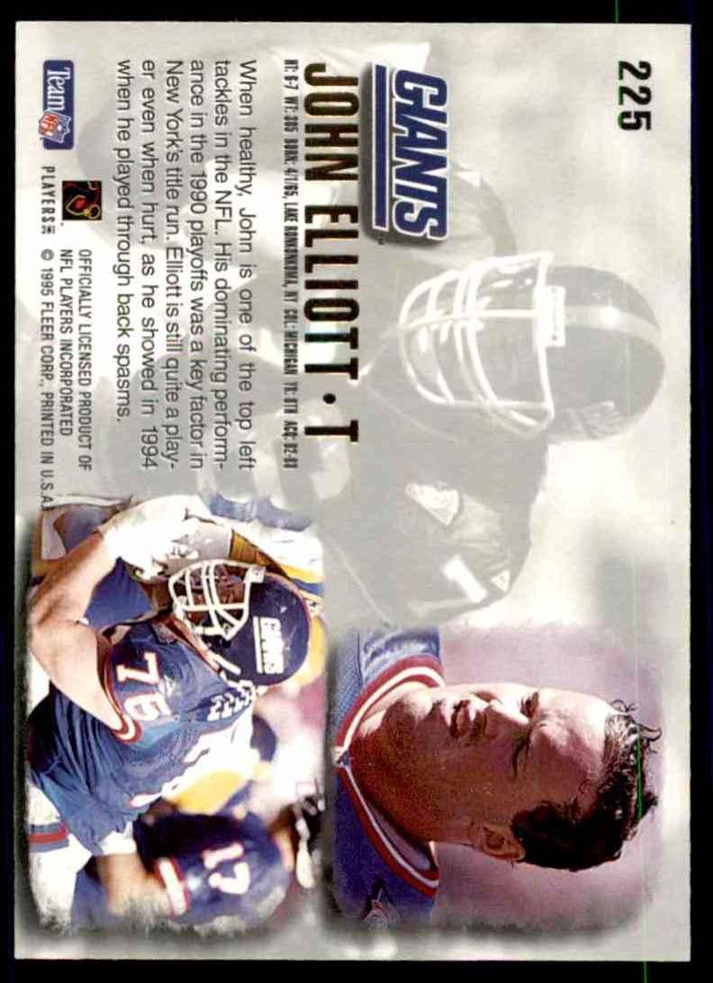 1995 Ultra John Elliott #225 card back image
