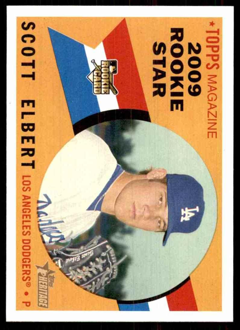 2009 Topps Heritage Scott Elbert (Rc) #128 card front image