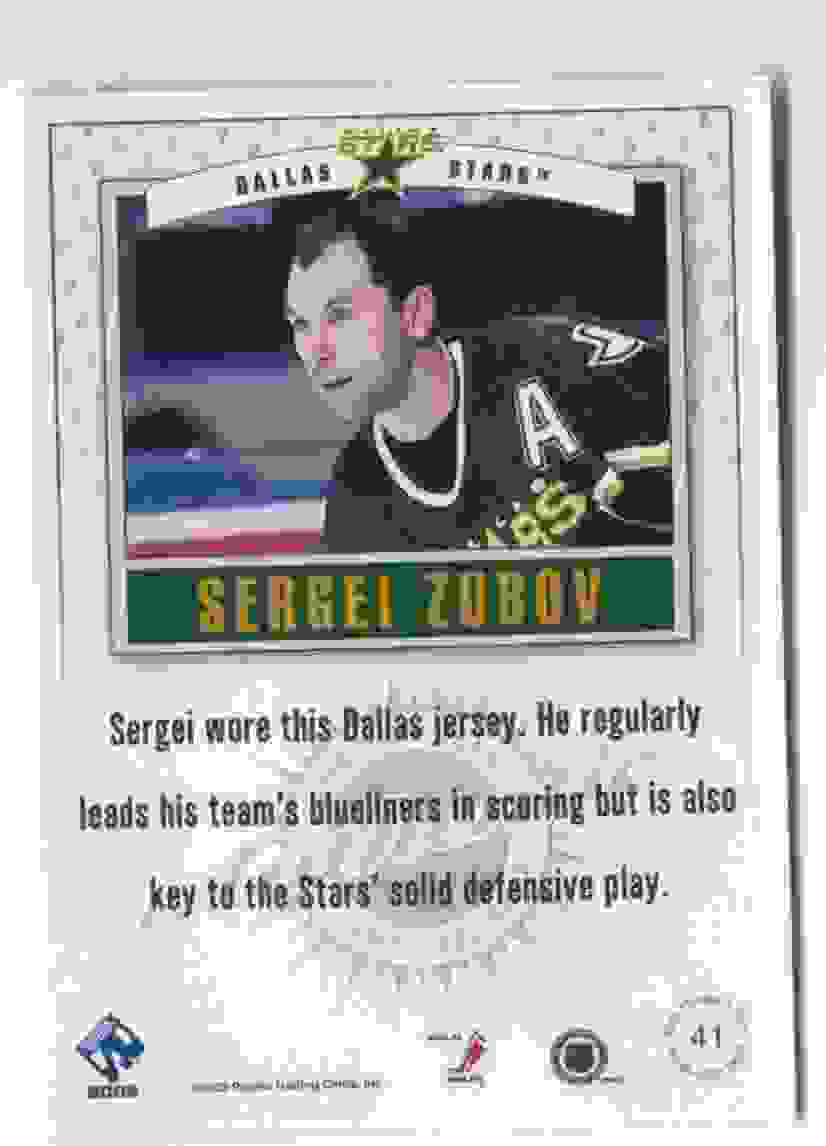2001-02 Pacific Private Stock Game Gear Sergei Zubov #41 card back image