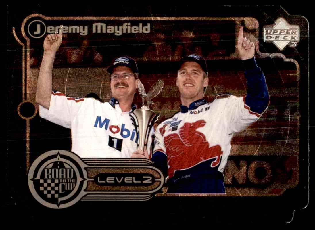1999 Upper Deck Road To The Cup Road To The Cup Silver Level 2 Jeremy Mayfield #RTTC6 card front image