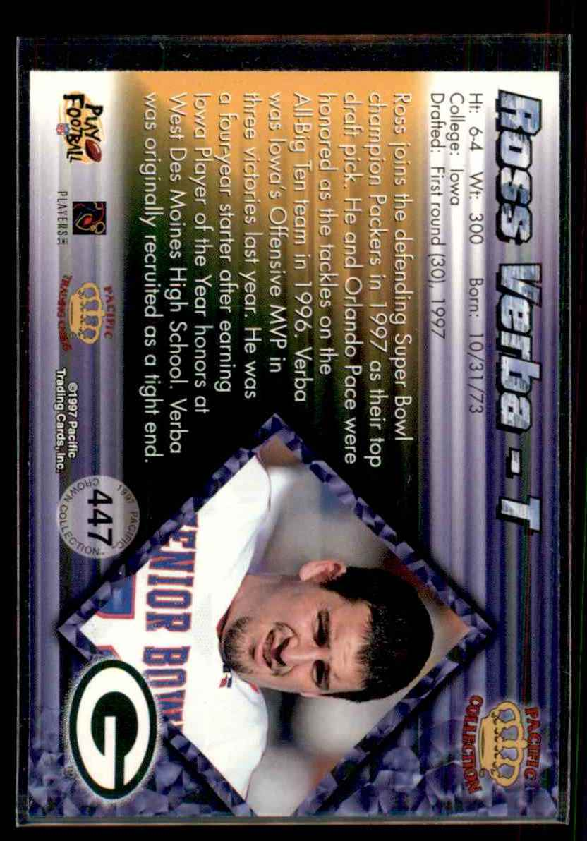 1997 Pacific Ross Verba #447 card back image