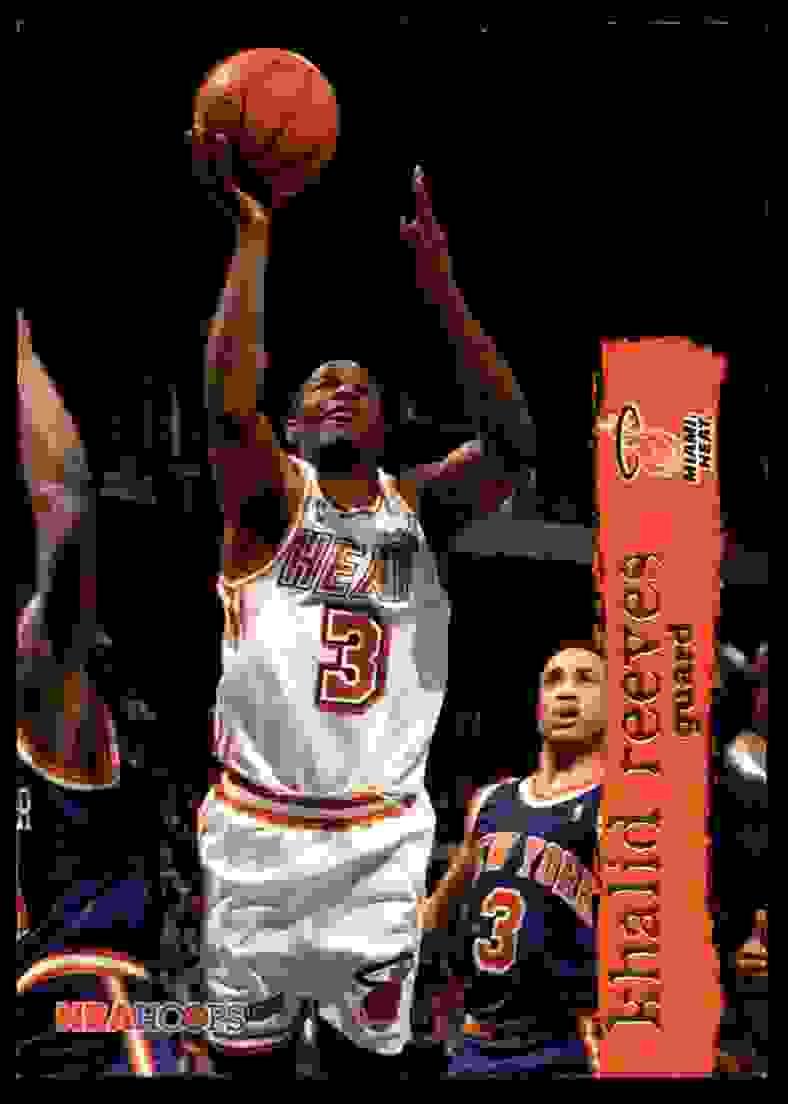 1995-96 Hoops Khalid Reeves #86 card front image