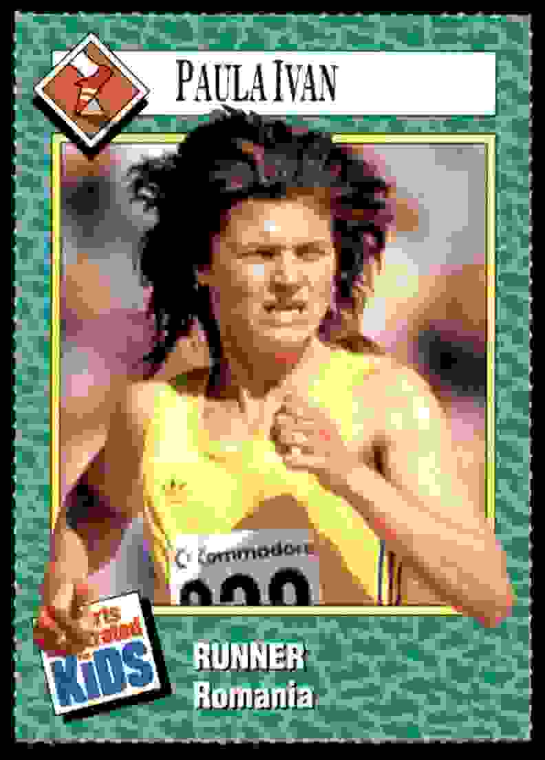 1990-91 Sports Illustrated For Kids Paula Ivan/Track And Field #122 card front image