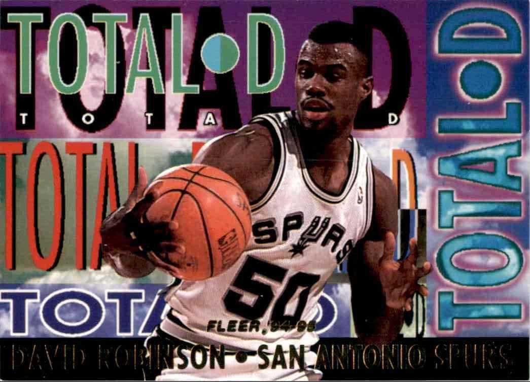 1994-95 Fleer Total D David Robinson #8 card front image