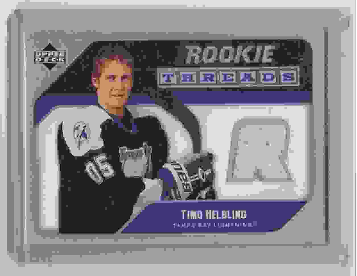2005-06 Upper Deck Rookie Threads Timo Helbling #RT-TH card front image