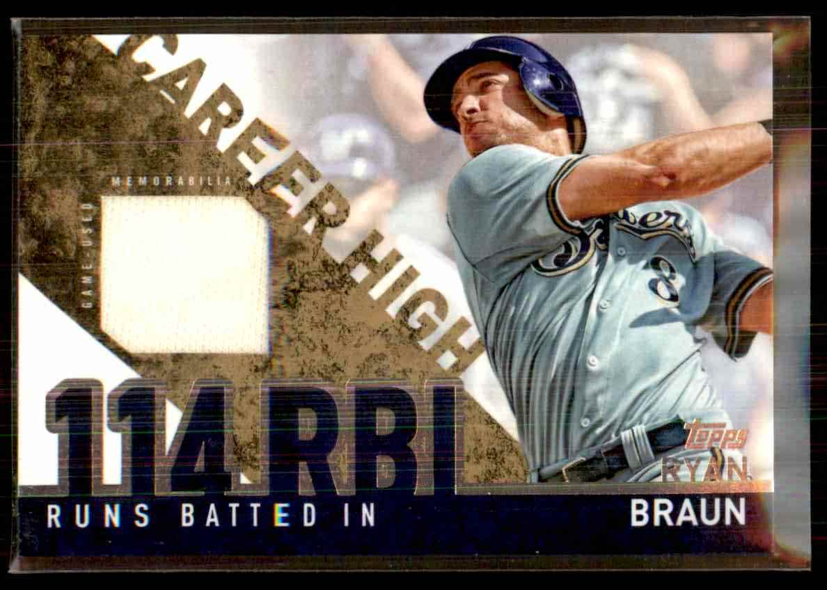 2015 Topps Career High Relics Ryan Braun S2 #CHRRB card front image