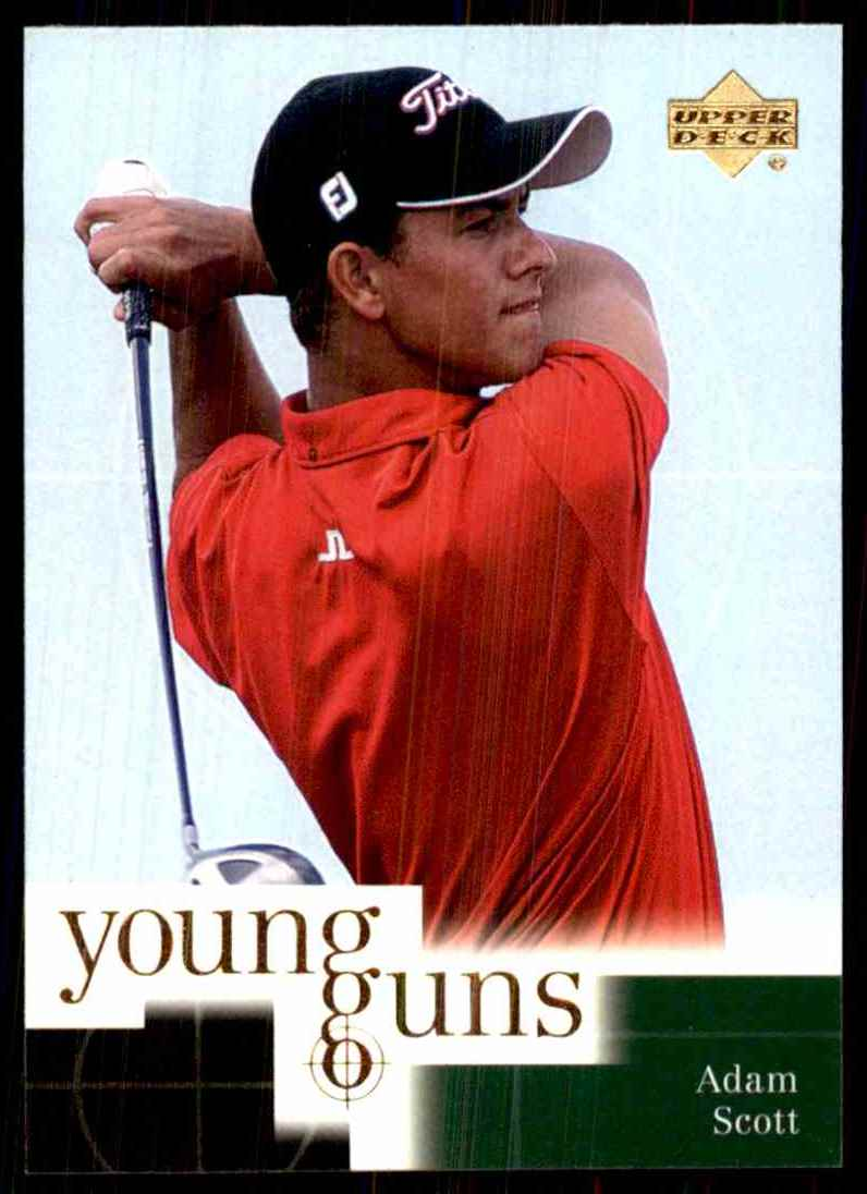2001 Upper Deck Adam Scott Yg RC #70 card front image