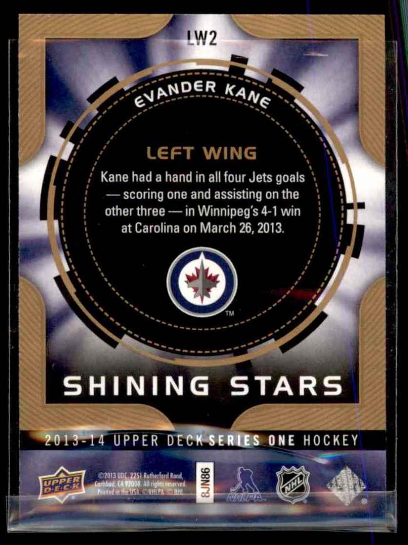 2013-14 Upper Deck Shining Stars Left Wing Evander Kane # ...