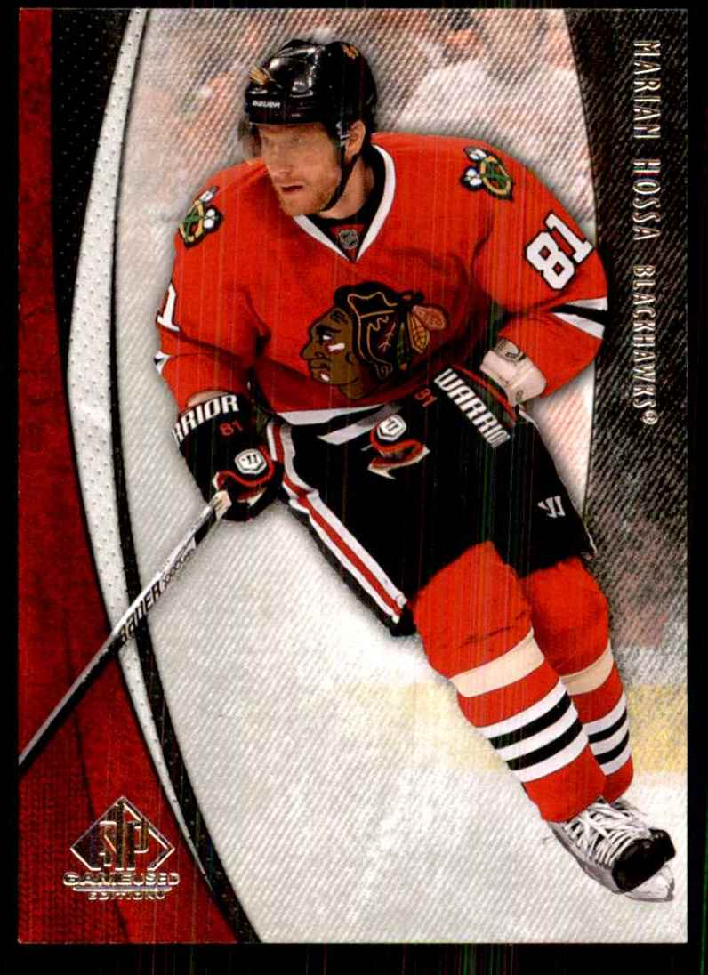 2010-11 SP Game Used Marian Hossa #21 card front image