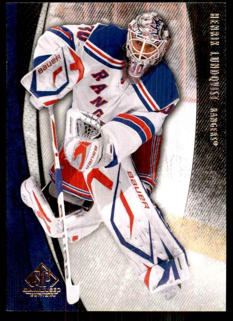 2010-11 SP Game Used Henrik Lundqvist #64 card front image