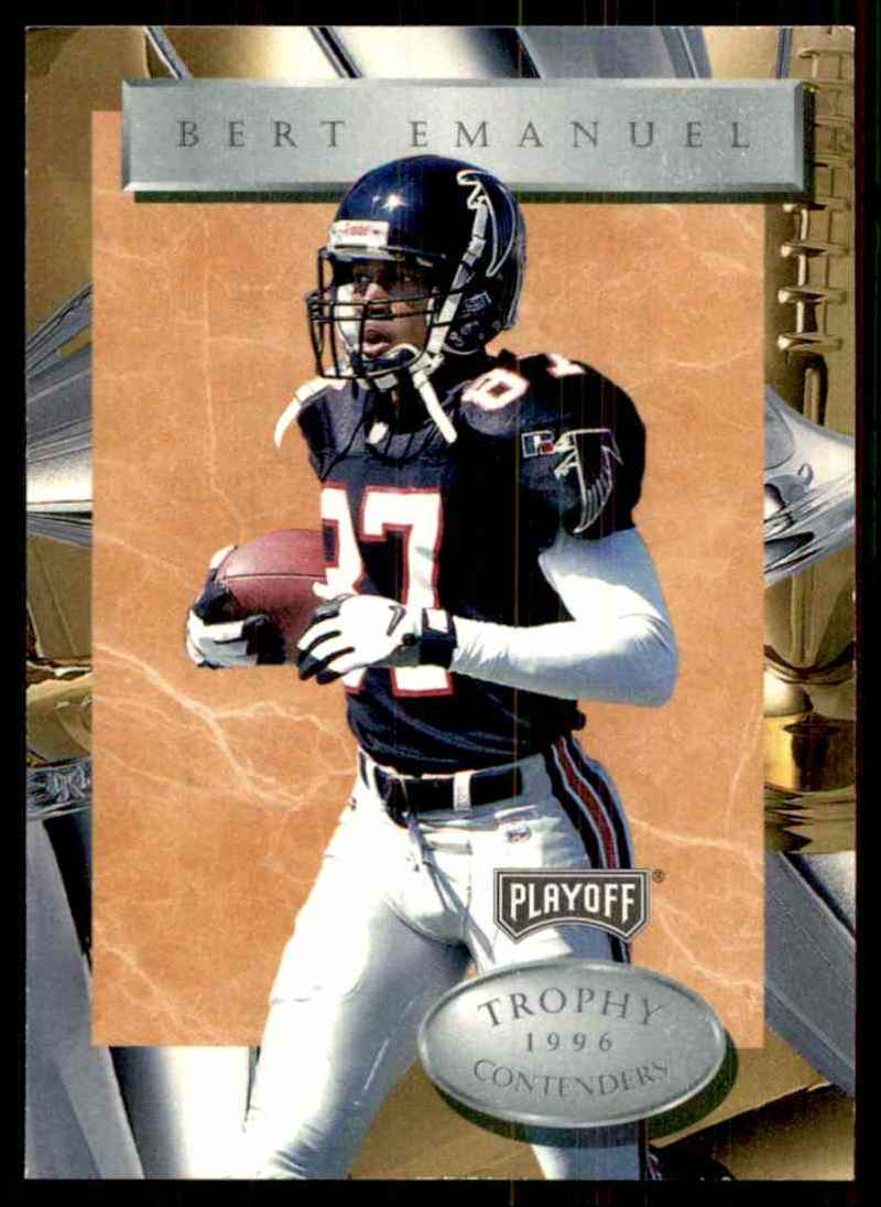 1996 Playoff Trophy Contenders Bert Emanuel #53 card front image