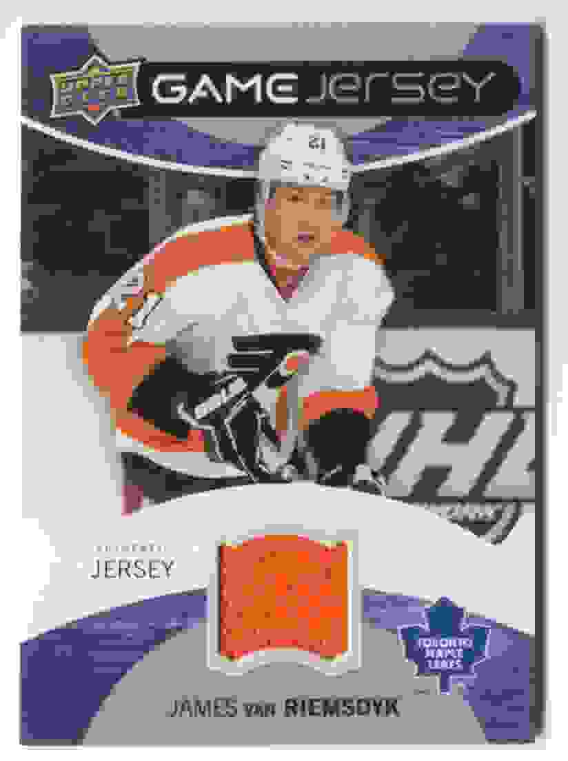 2012-13 Upper Deck Game Jersey James Van Riemsdyk #GJ-JV card front image