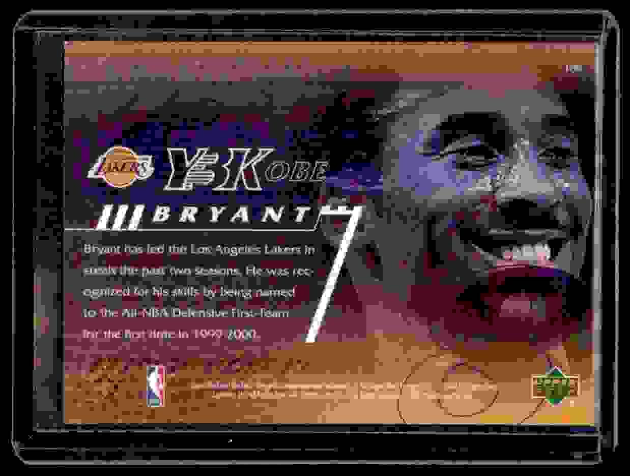 2000-01 Upper Deck Kobe Bryant #189 card back image