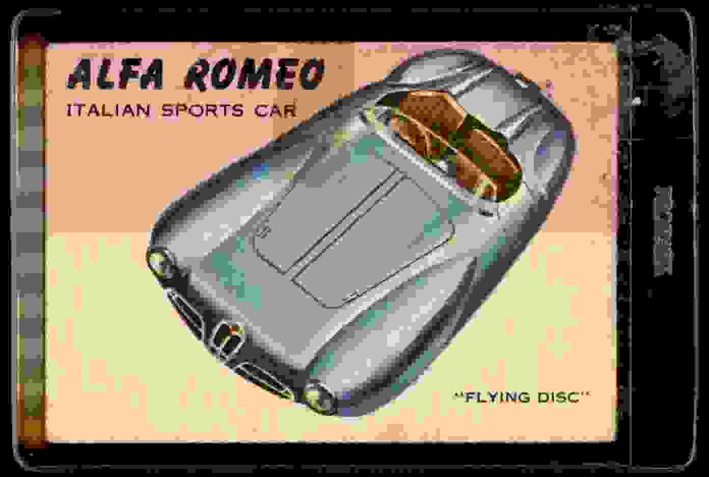 1954 Topps World On Wheels Alfa Romeo #59 card front image