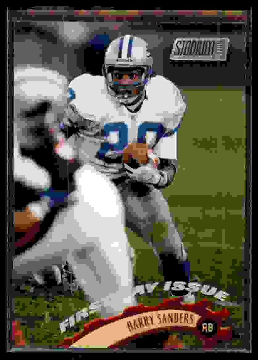 1997 Stadium Club First Day Barry Sanders #55 card front image