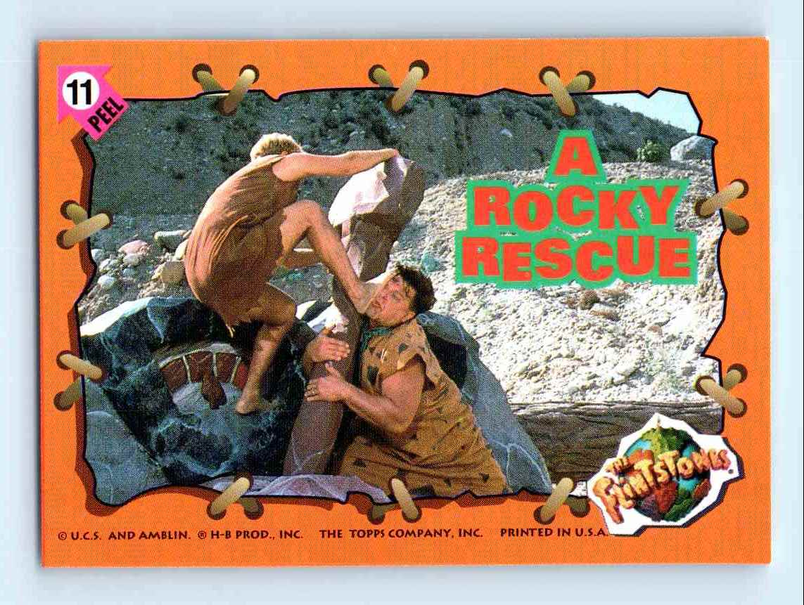 1993 topps flintstones a rocky rescue 11 on kronozio