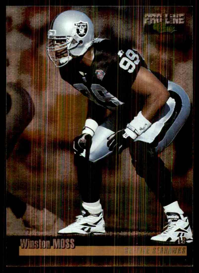 1995 Pro Line Silver Winston Moss #117 card front image