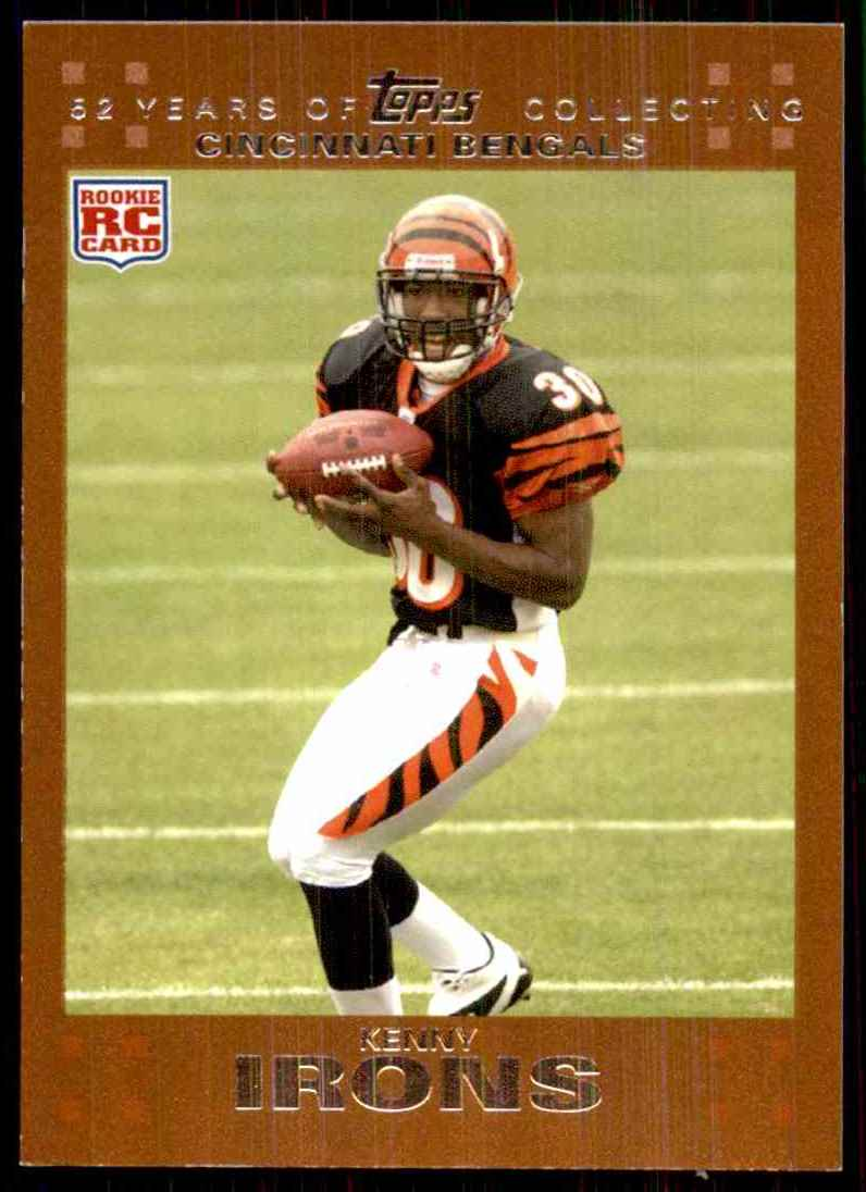 2007 Topps Copper Kenny Irons #305 card front image
