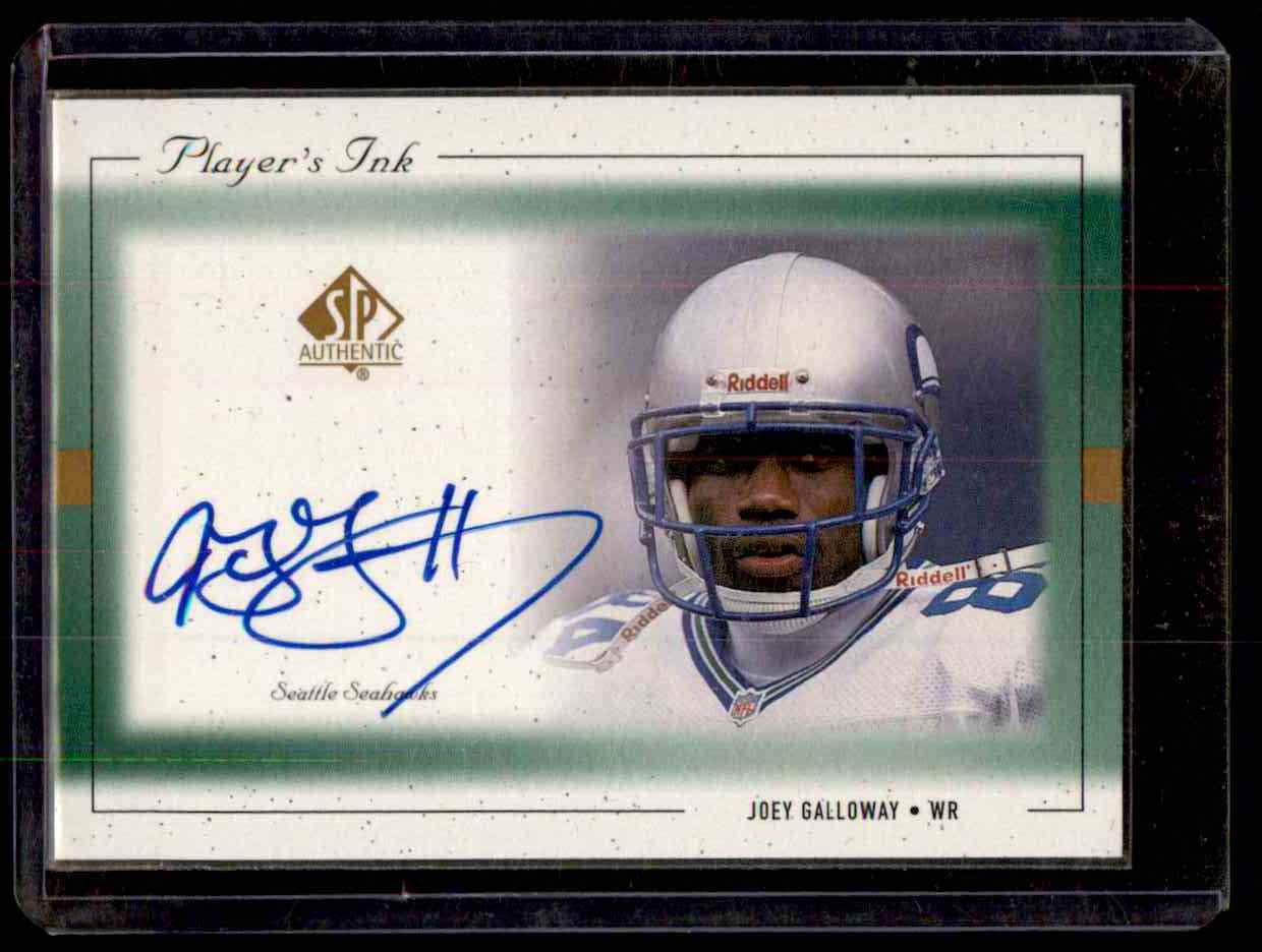 1999 SP Authentic Player's Ink Green Joey Galloway #JGA card front image
