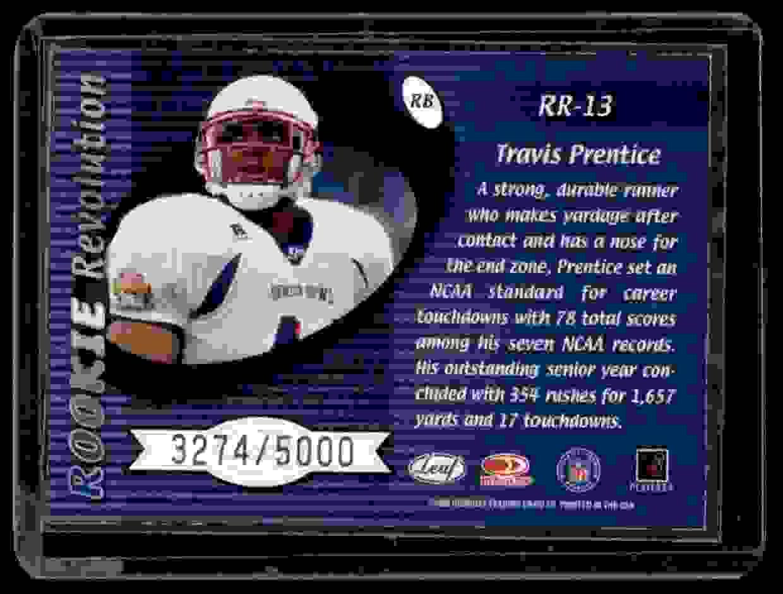 2000 Quantum Leaf Rookie Revolution Travis Prentice #RR13 card back image