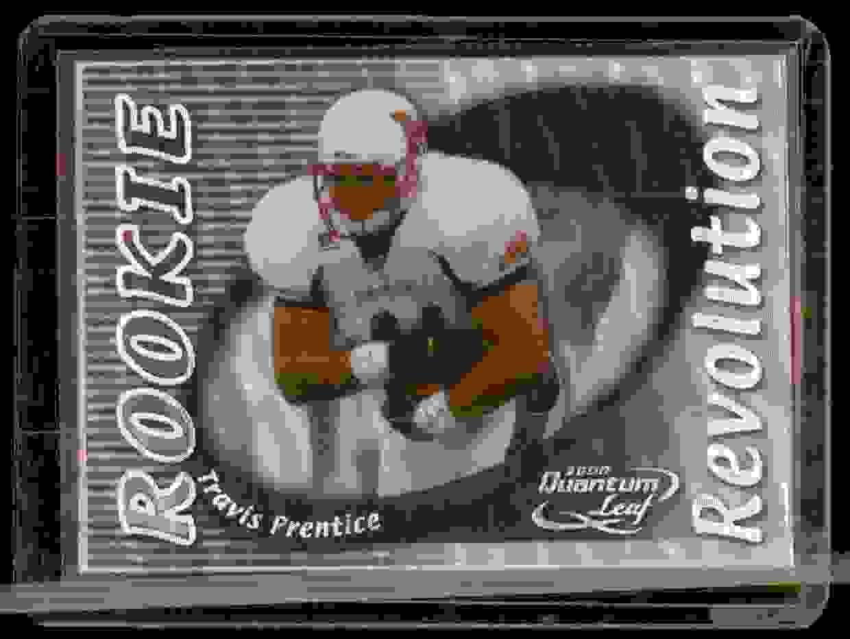 2000 Quantum Leaf Rookie Revolution Travis Prentice #RR13 card front image