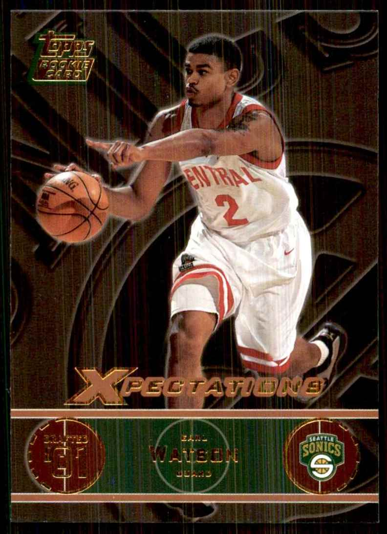 2001-02 Topps Xpectations Earl Watson RC #137 card front image