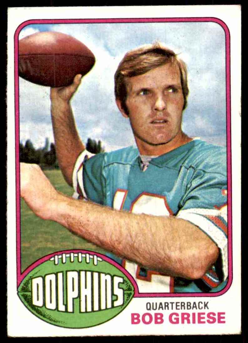 1976 Topps Bob Griese #255 card front image