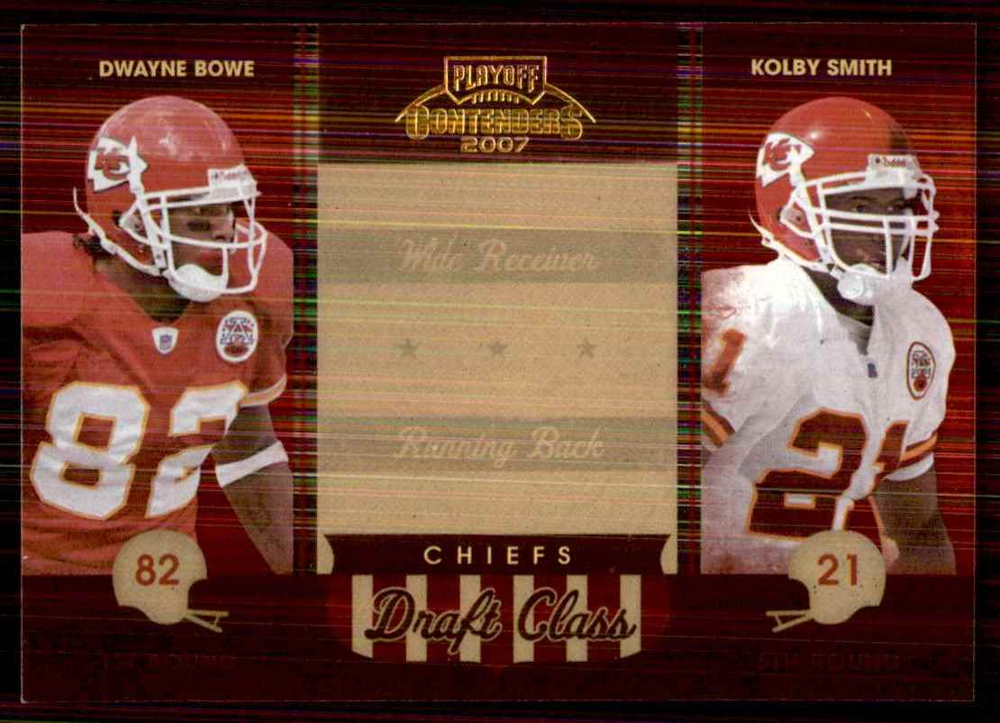 2007 Playoff Contenders Draft Class Dwayne Bowe/Kolby Smith #16 card front image