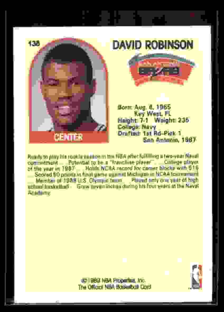 1989-90 Hoops David Robinson #138 card back image