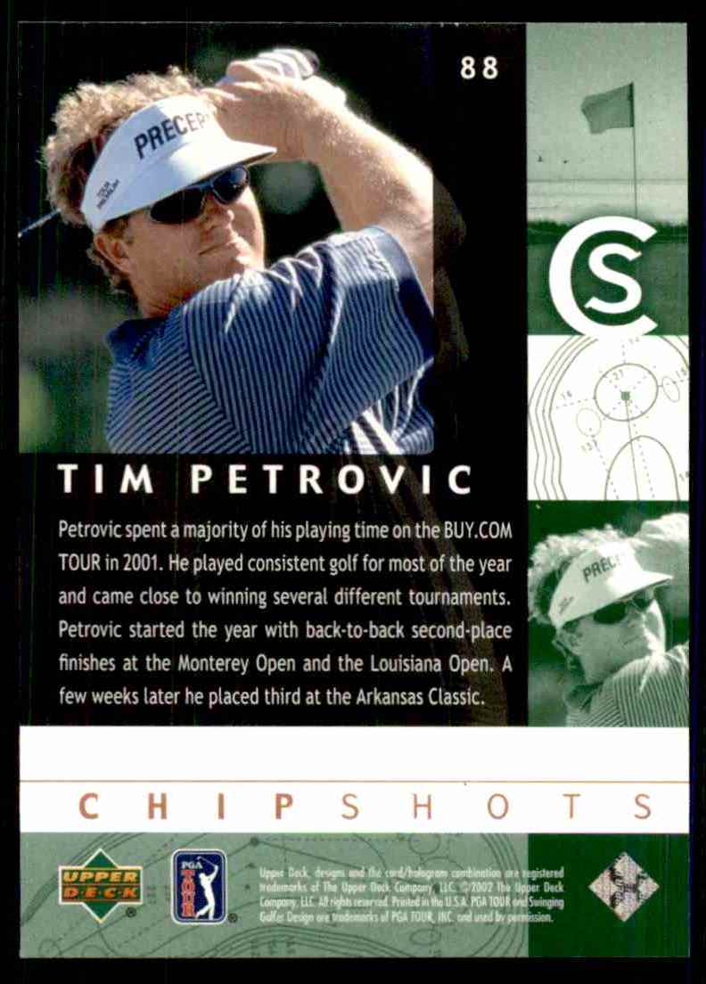 2002 Upper Deck Tim Petrovic Cs RC #88 card back image