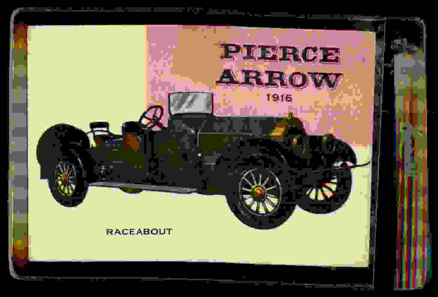 1954 Topps World On Wheels Pierce-Arrow Raceabout 1916 #64 card front image