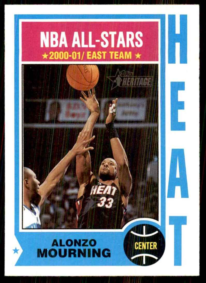 2001-02 Topps Heritage Alonzo Mourning #25 card front image