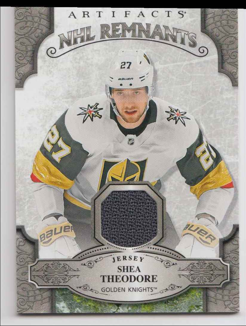 2019-20 Artifacts NHL Remnants Shea Theodore #NR-ST card front image