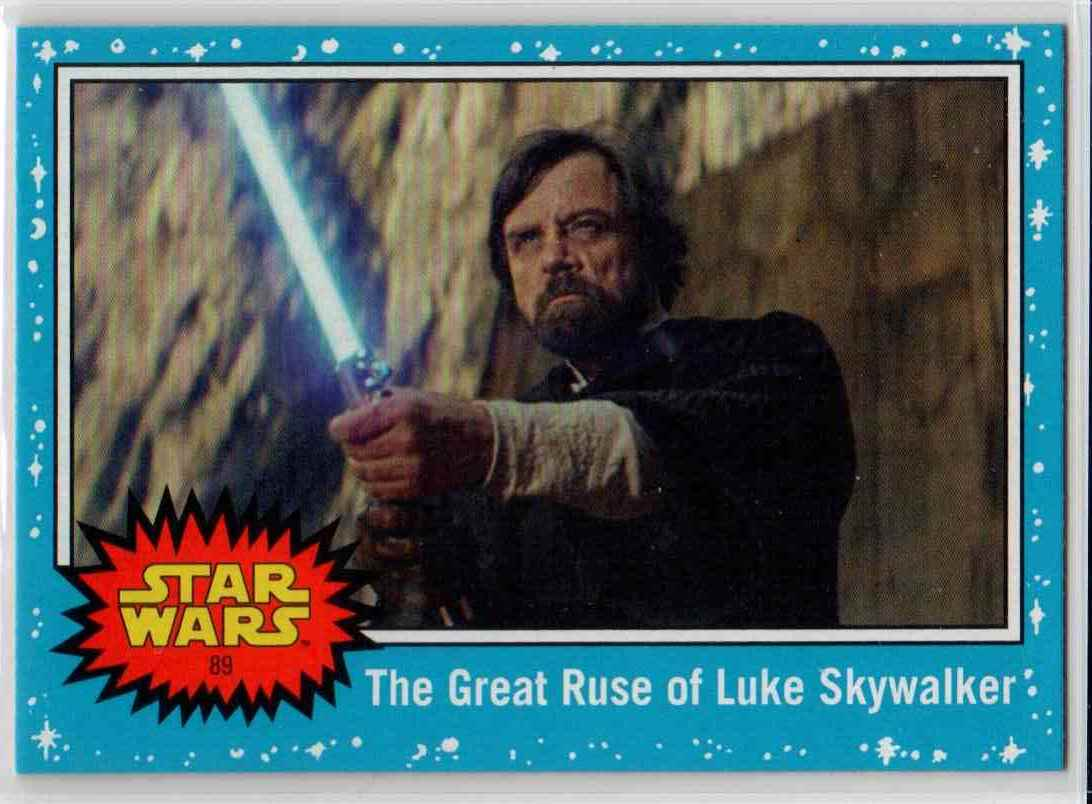 2019 Topps Star Wars Journey To Rise Of Skywalker The Great Ruse Of Luke Skywalker #89 card front image