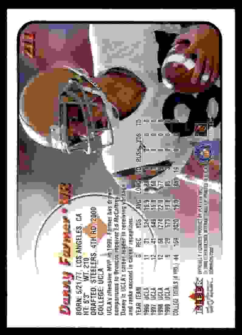 2000 Dominion Danny Farmer #211 card back image