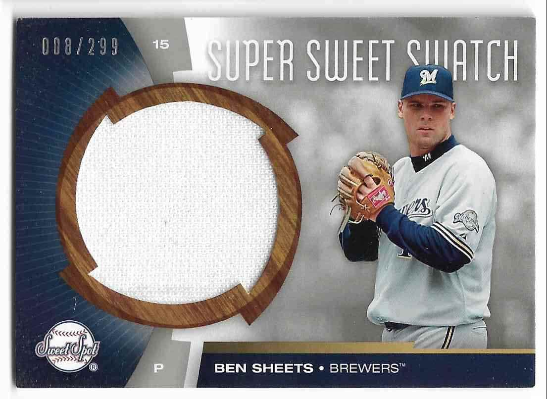 2006 Upper Deck Sweet Spot Ben Sheets #SW-BS card front image