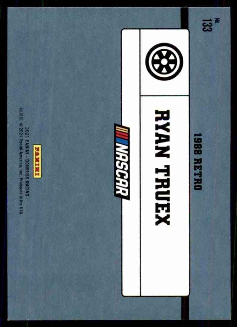 2021 Donruss Ryan Truex Retro #133 card back image