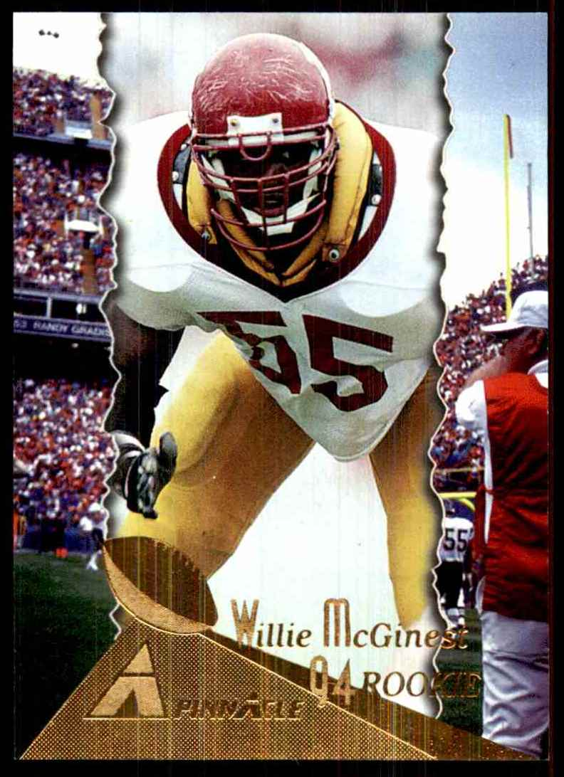 1994 Pinnacle Willie McGinest RC #200 card front image