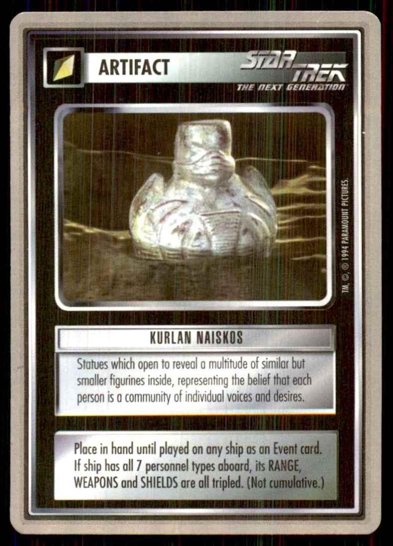 1995 Star Trek Premiere Collectors Tin Silver Border Kurlan Naiskos R #176 card front image