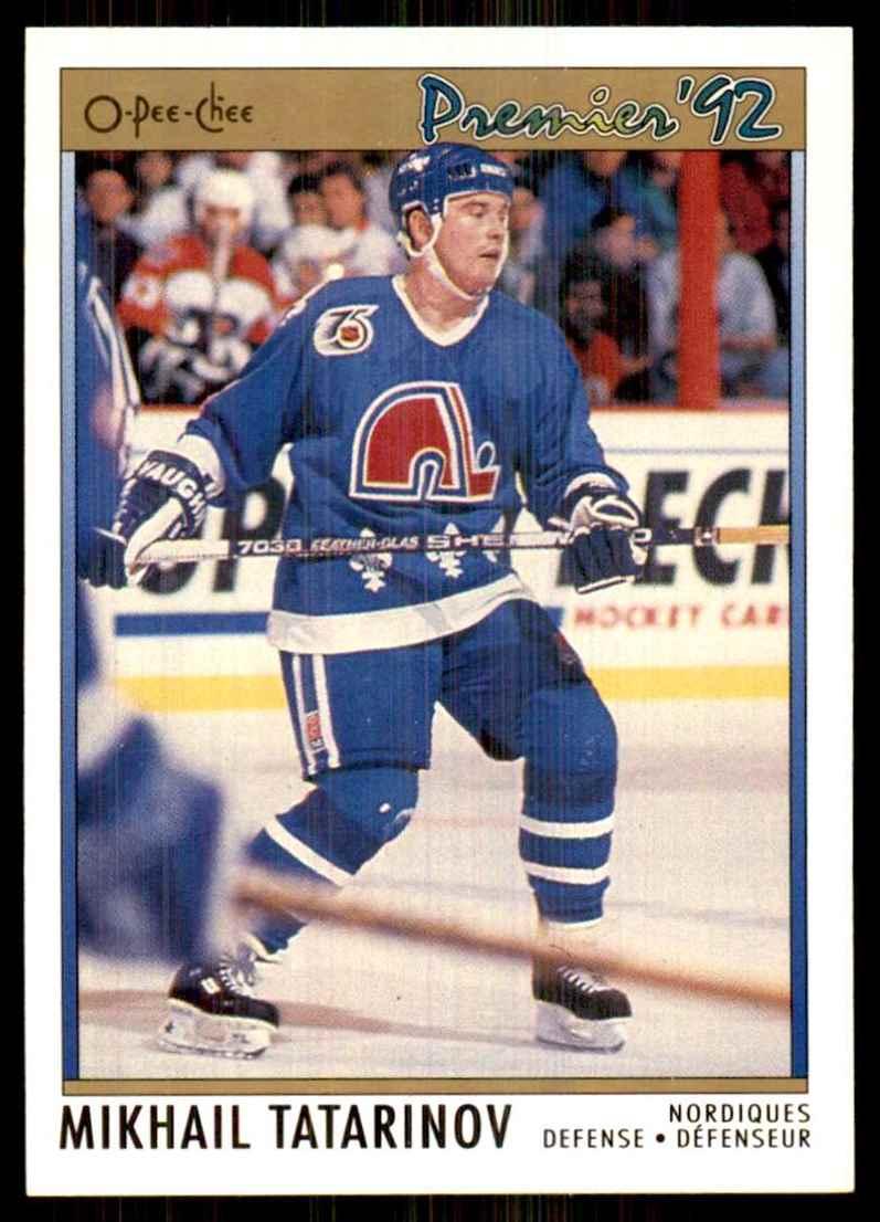 1991-92 OPC Premier Mikhail Tatarinov #62 card front image