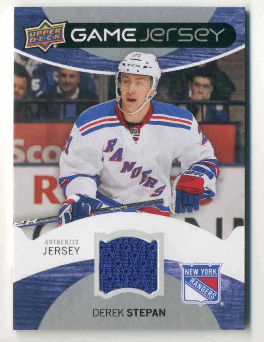 2012-13 Upper Deck Game Jersey Derek Stepan #GJ-DR card front image